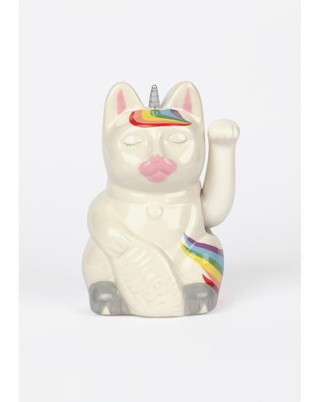 Unicorn Magic Maneki-neko Cat