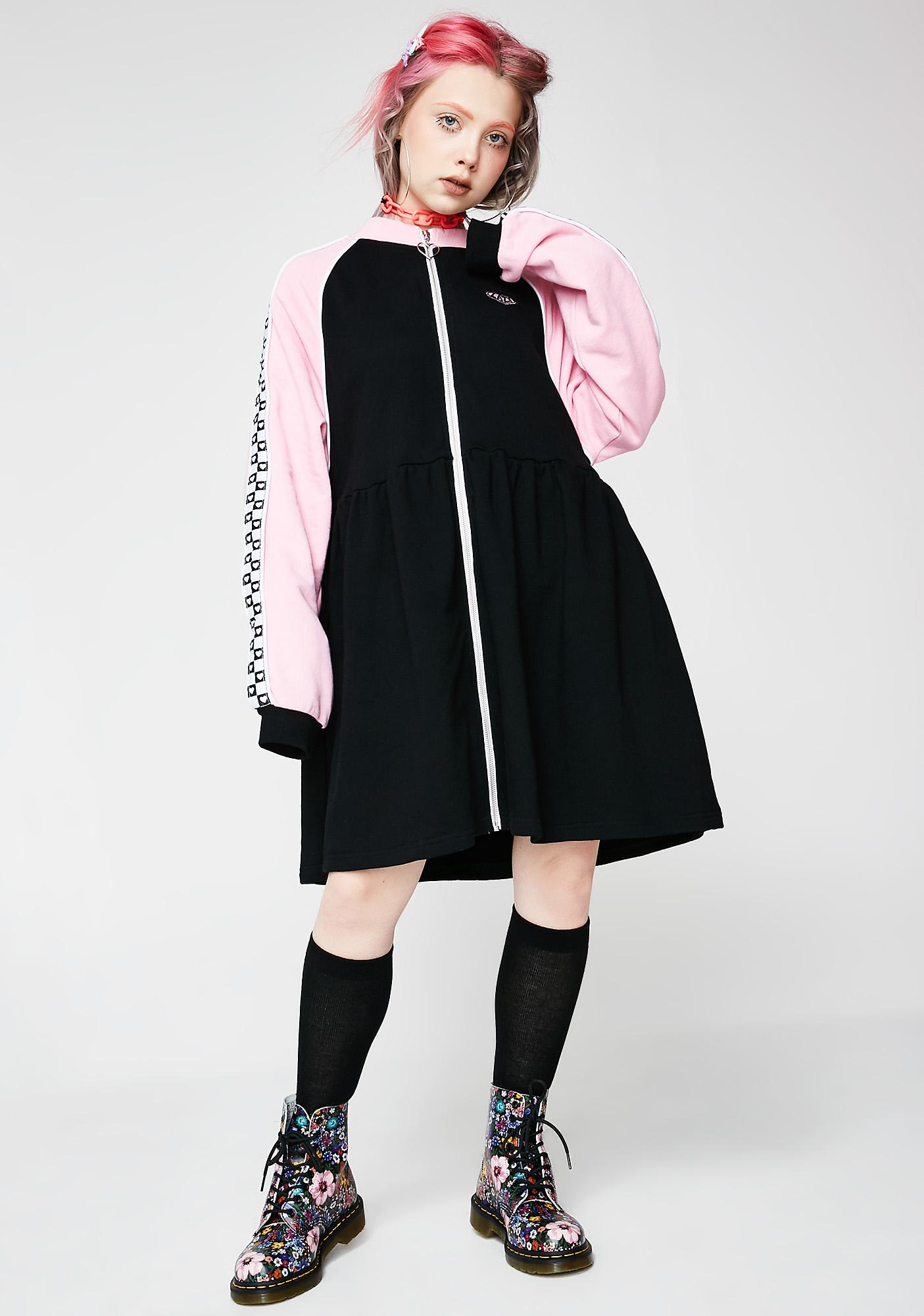 407fdcd64e5 ... Lazy Oaf Sports Club Zip Sweater Dress ...