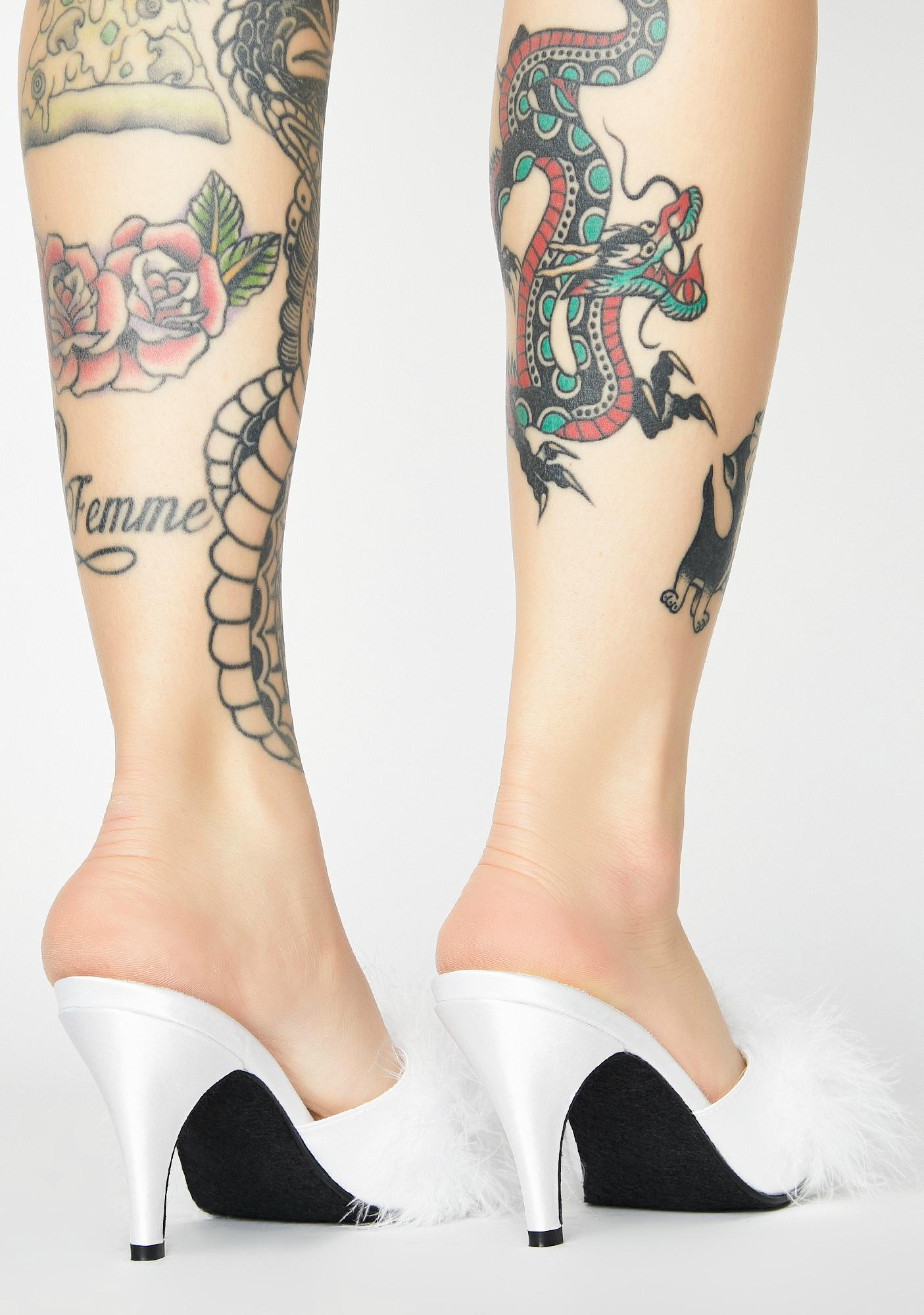 Fabulicious Pure Posh Princess Fluffy Heels