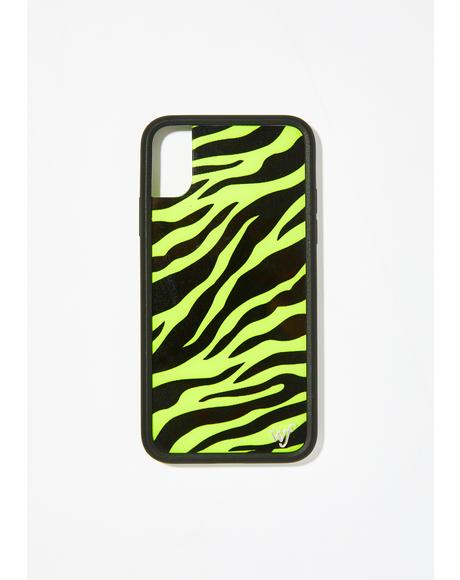 Neon Zebra iPhone Case