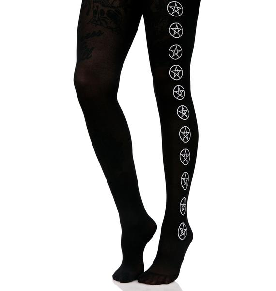 Born Evil Pentagram Tights