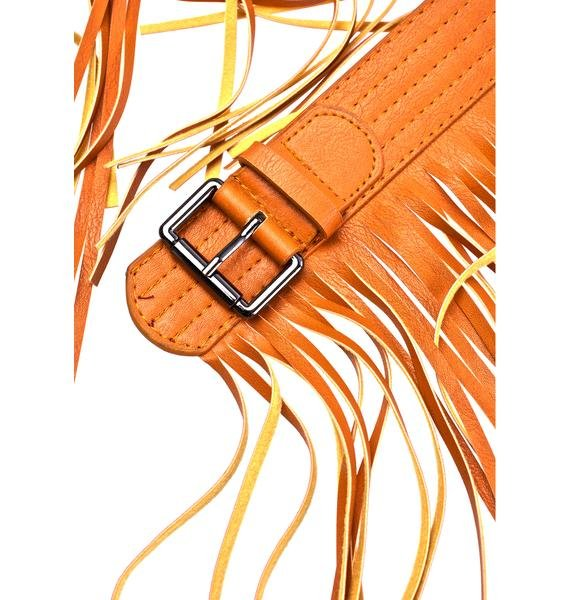 Mojave Clay Fringed Belt