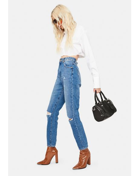 Meadow Worn Organic Duster Jeans