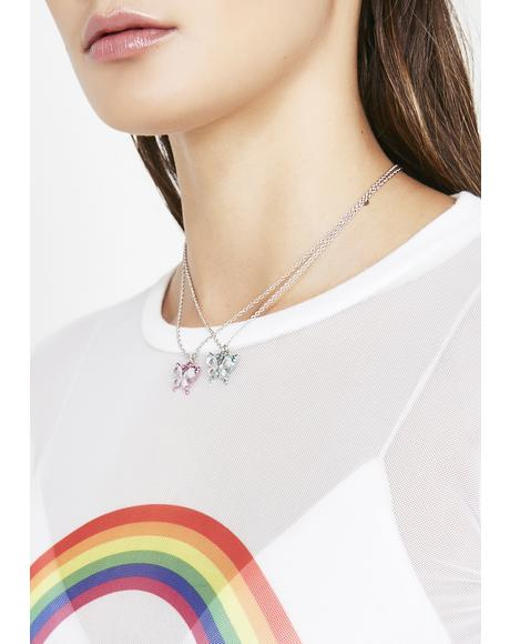 BB Butterfly BFF Necklaces