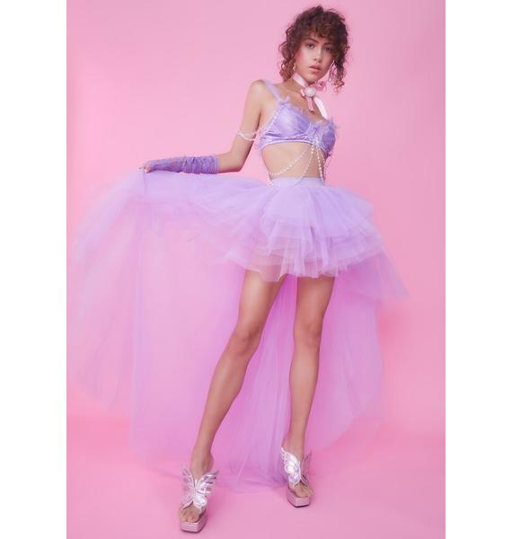 Sugar Thrillz Lavender Nymph Princess Tulle Skirt