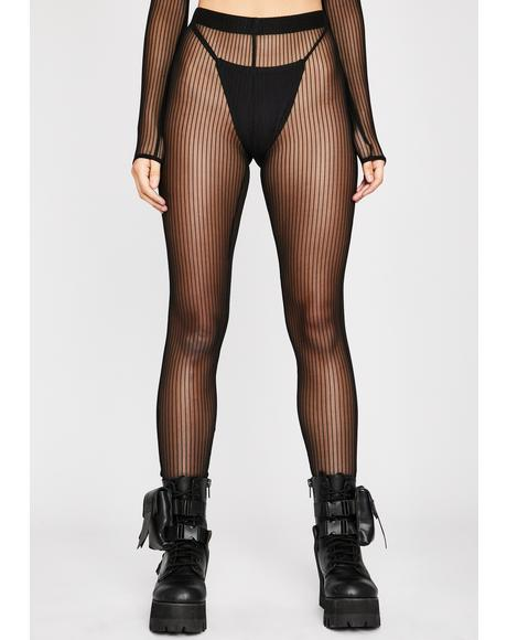 Bad Manners Sheer Leggings