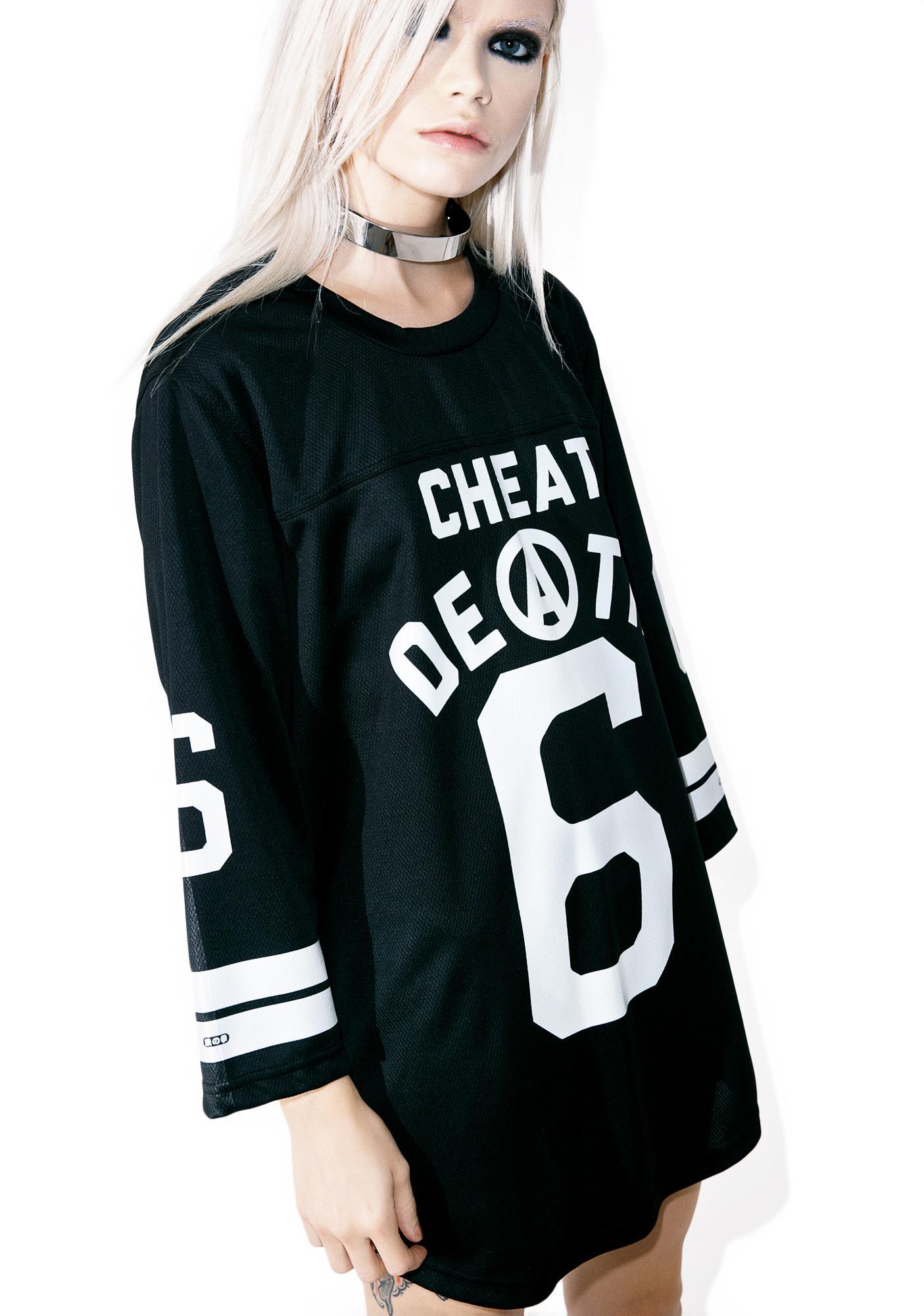 Iron Fist Cheat Death Football Tee