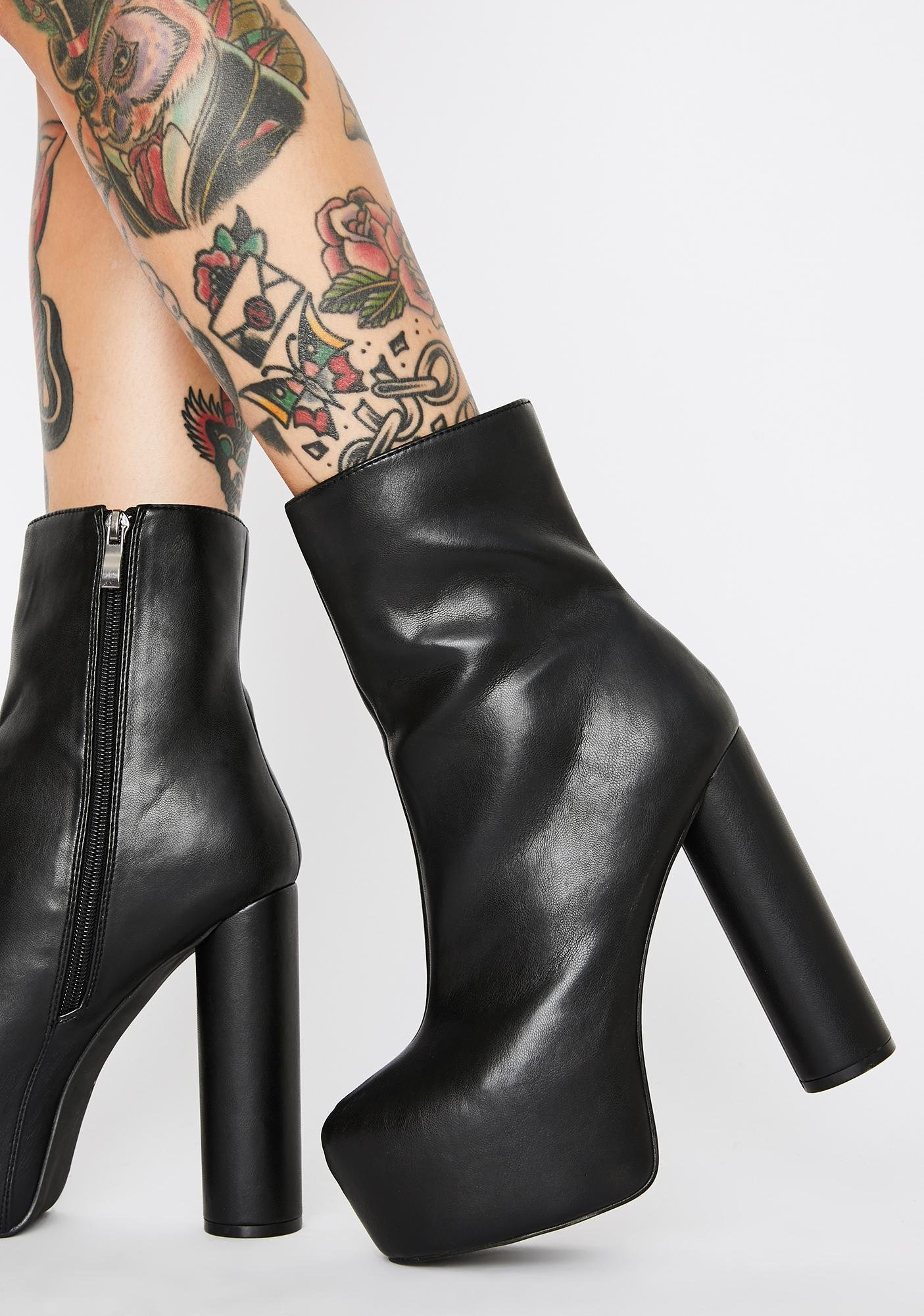 Lemon Drop by Privileged Act Up Platform Boots