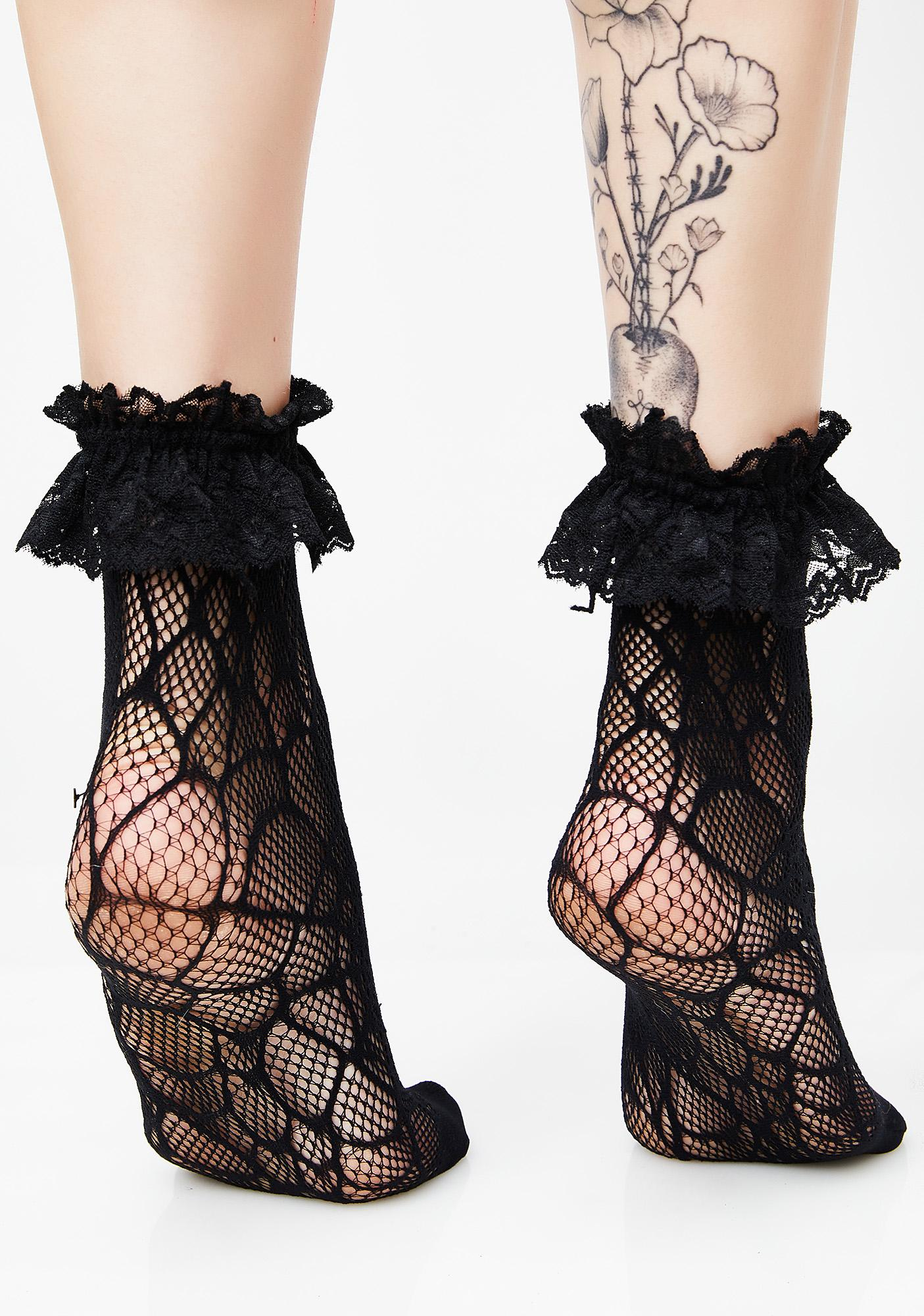 Killstar Widows Ankle Socks