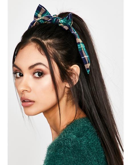 Dainty Demerit Plaid Hair Bow