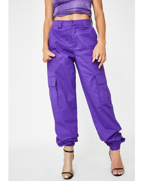 Purple Antares Cargo Pants