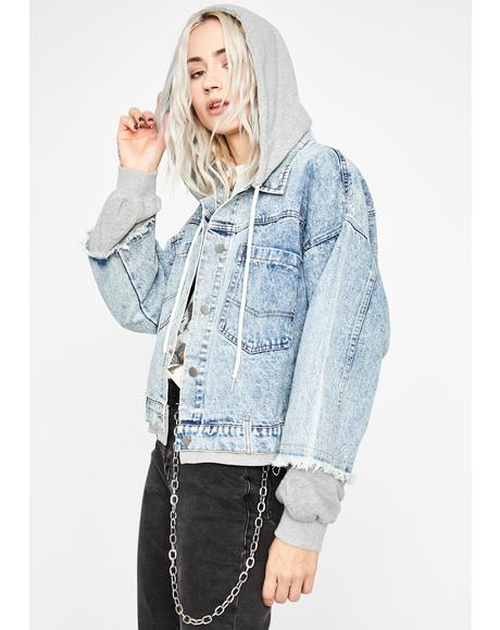 What's Good Denim Hoodie