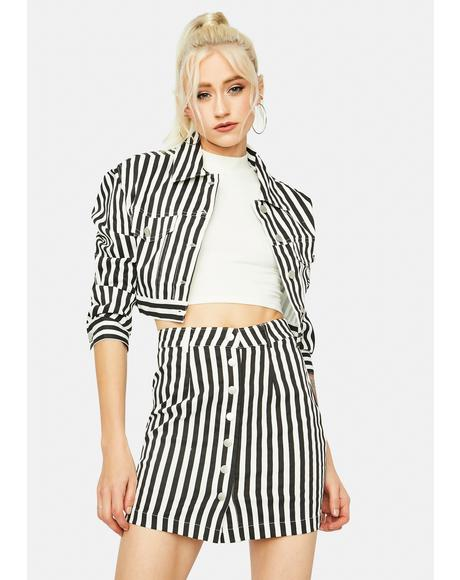 Pining For You Button Down Mini Skirt