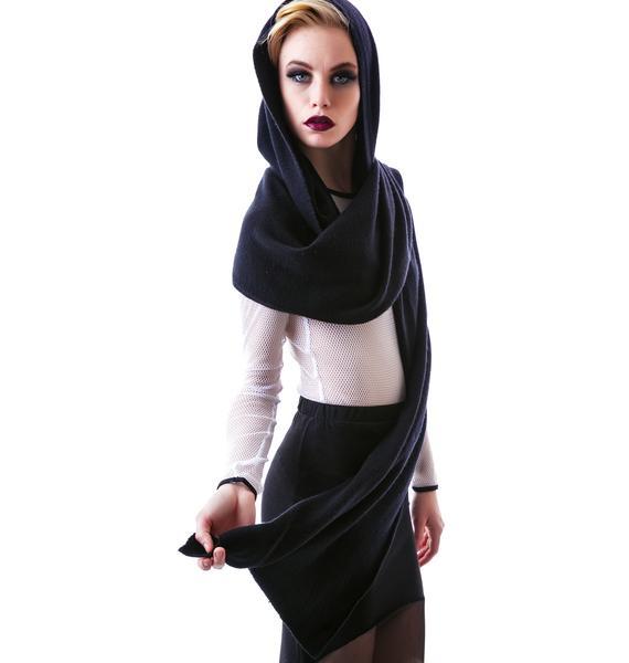 Widow Hooded Scarf