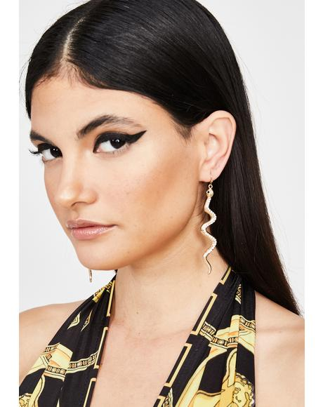 Deadliest Diva Snake Earrings