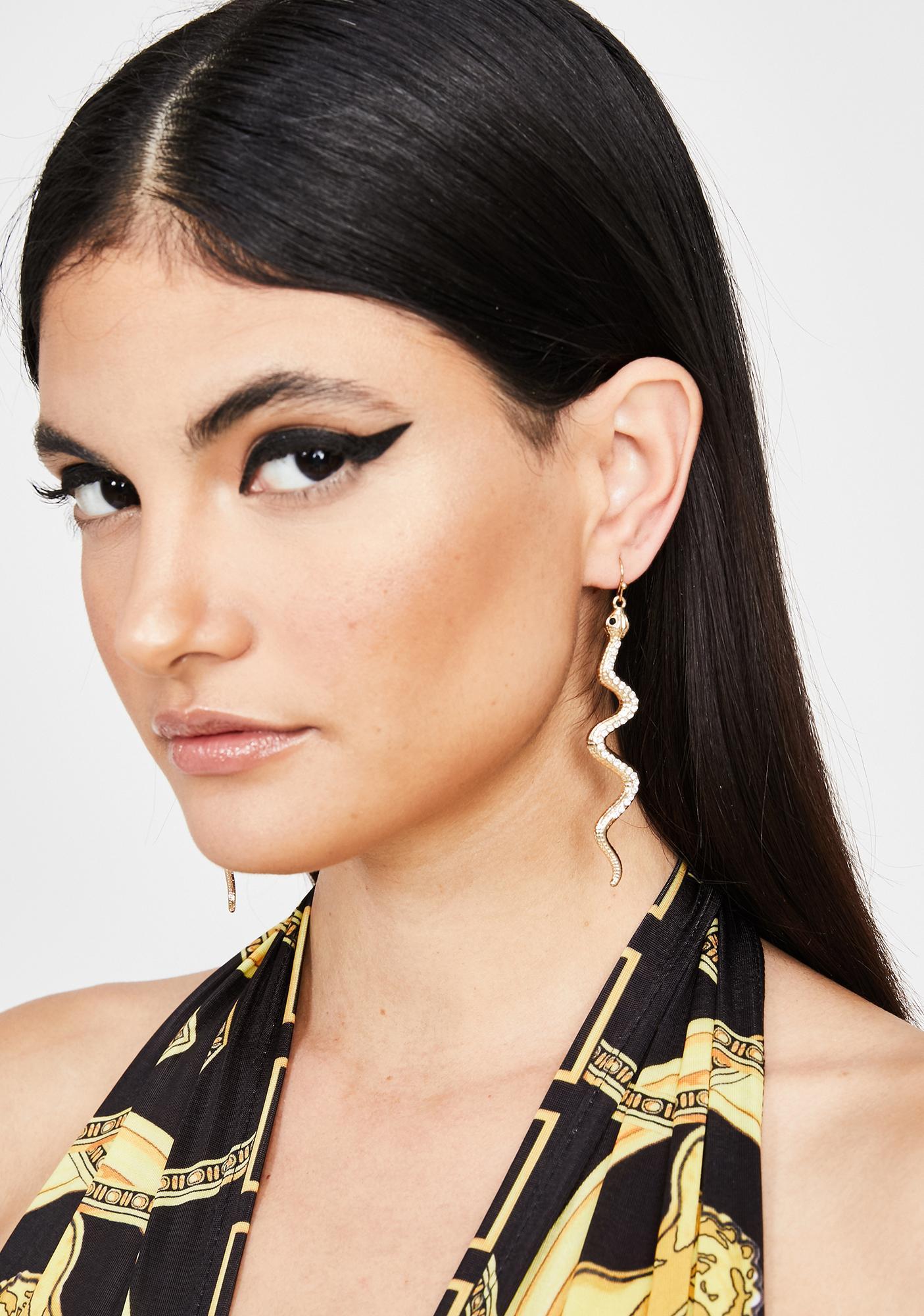 Deadliest Diva Snake Earrings