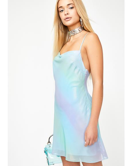 Stardust Aura Slip Dress