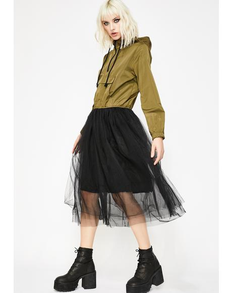 Grunge Princess Bomber Dress