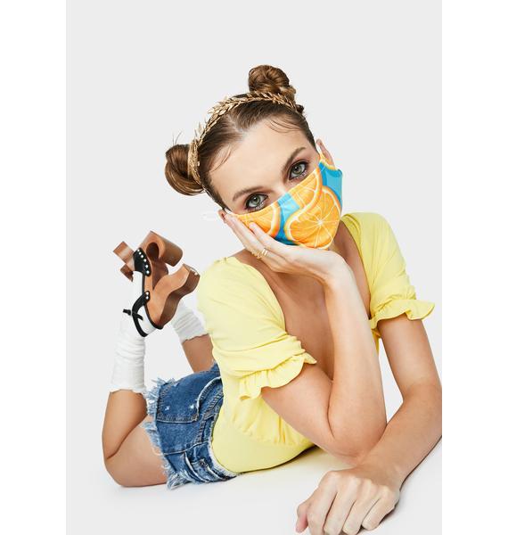 Orange You Healthy Face Mask