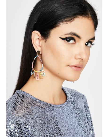 Catch My Vibe Teardrop Earrings