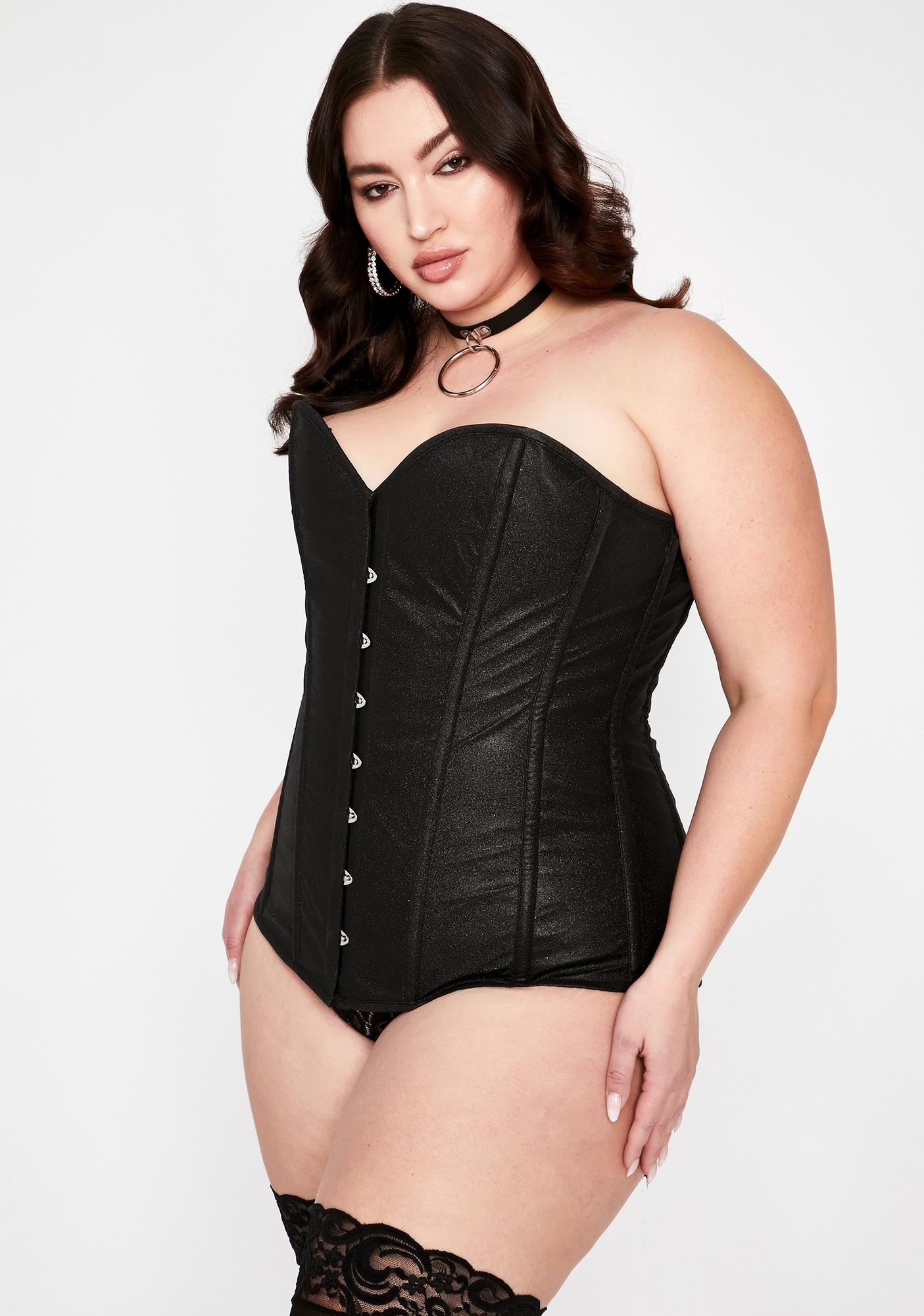 Daisy Corsets Plus Starry Night Glitter Overbust Corset