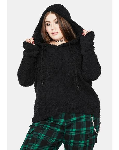 Miss Make It Count Fuzzy Knit Hoodie