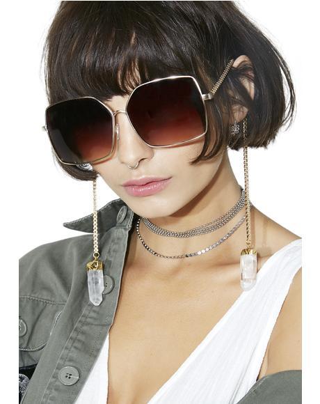 Chain Square Sunglasses