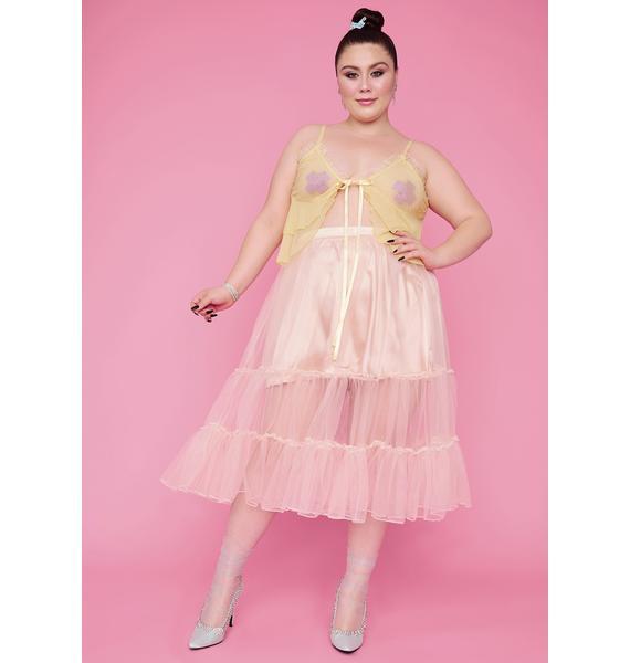 Sugar Thrillz So Tutu For Now Tulle Midi Skirt
