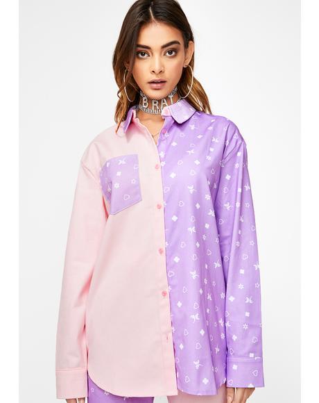 Pink N' Lilac Mismatch Shirt