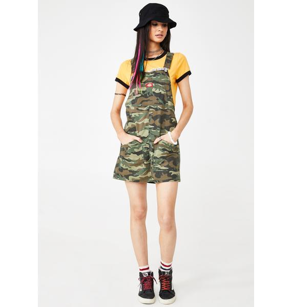 Dickies Girl Camo Jumper Dress