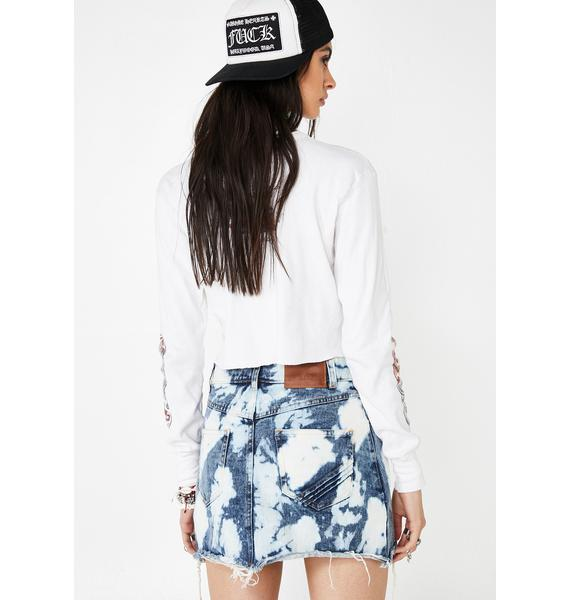 The People VS Bleached Out Vixen Denim Skirt