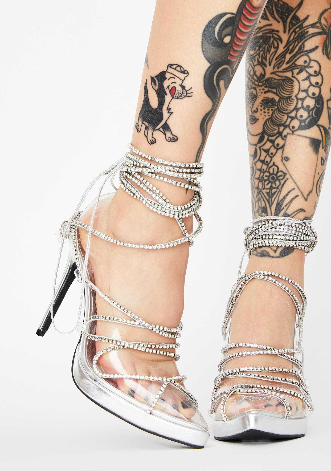 Poster Grl Cover Star Lace Up Heels