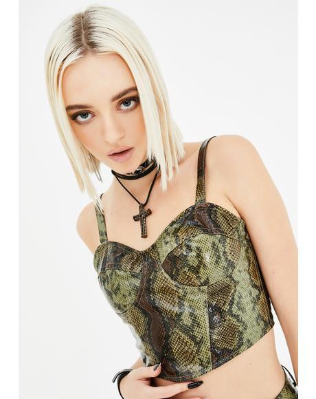 Lily Corset Crop Top