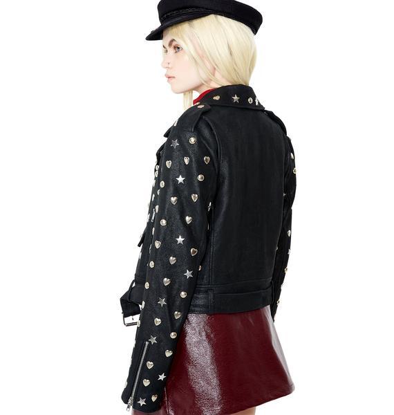 Glamorous Stars N' Hearts Leather Jacket
