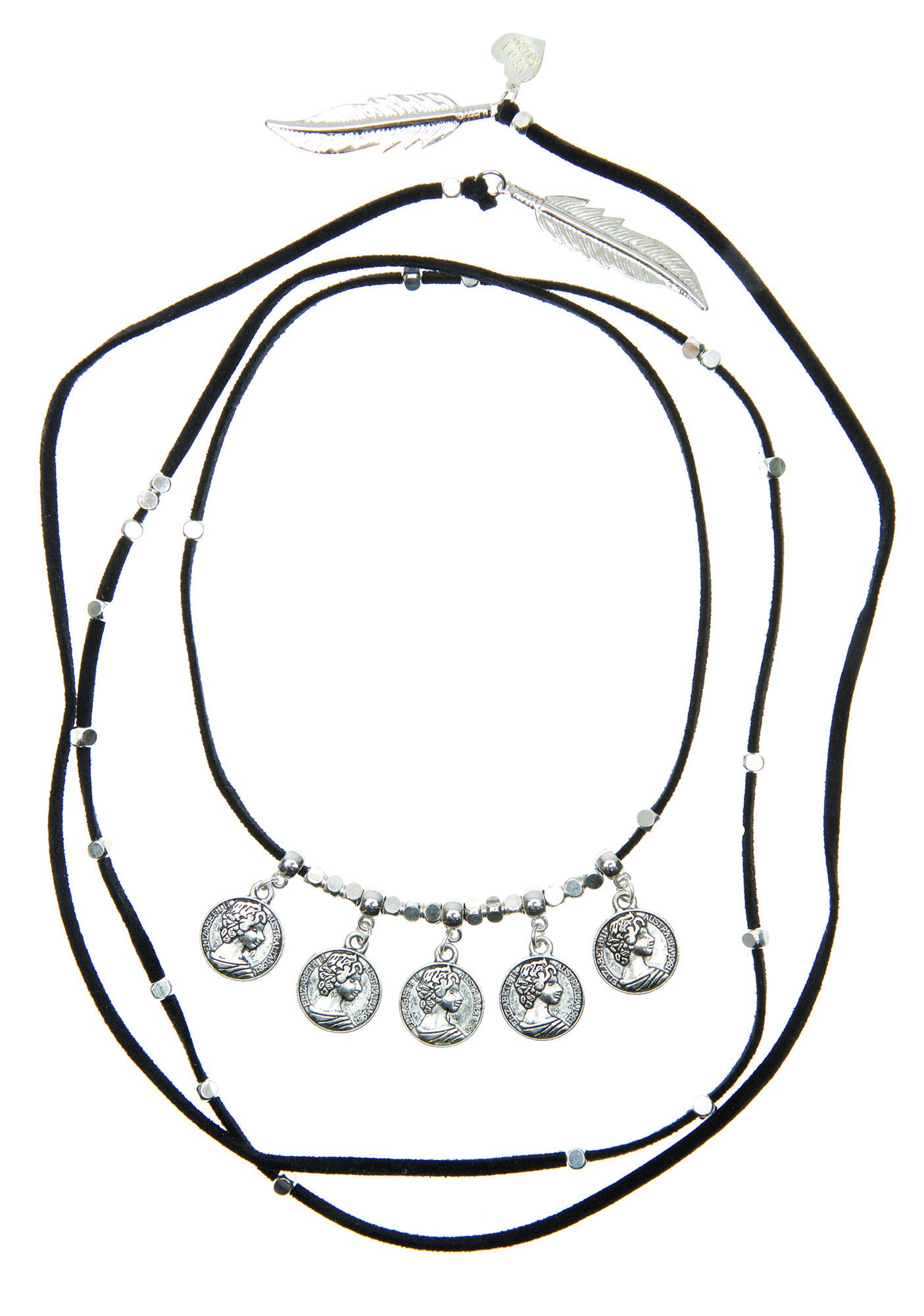 Vidakush Coin Beaded Lariat