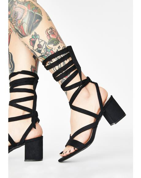 Just A Preview Wrap Heels