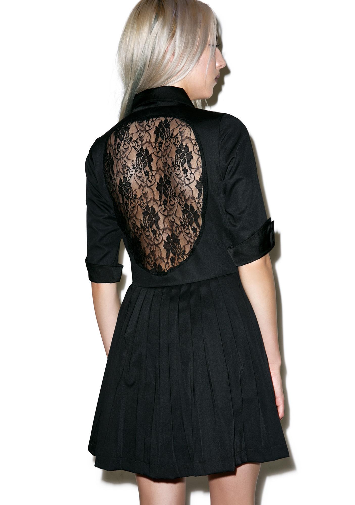 Iron black dress