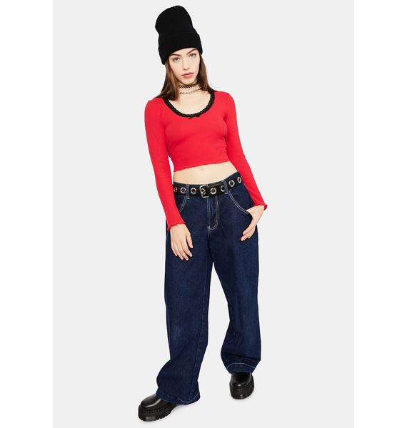 dELiA*s by Dolls Kill Ice Skate Date Thermal Top