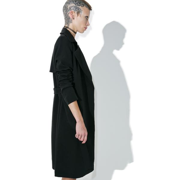 Darkness On My Mind Trench Coat