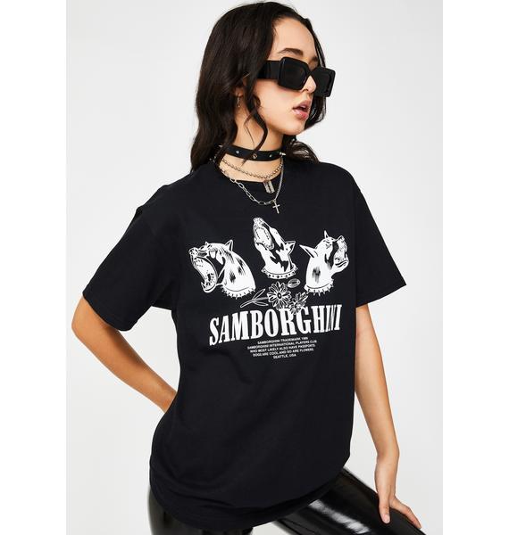 Samborghini Barking Dogs Graphic Tee