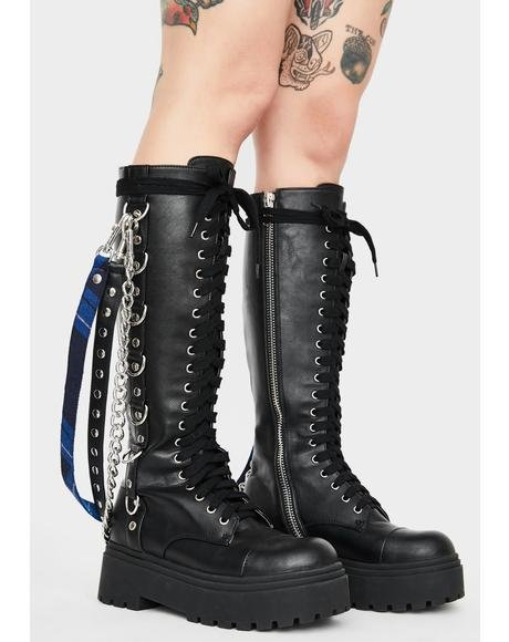 Fright Night Knee High Boots