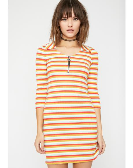Vibrant Slay Striped Dress