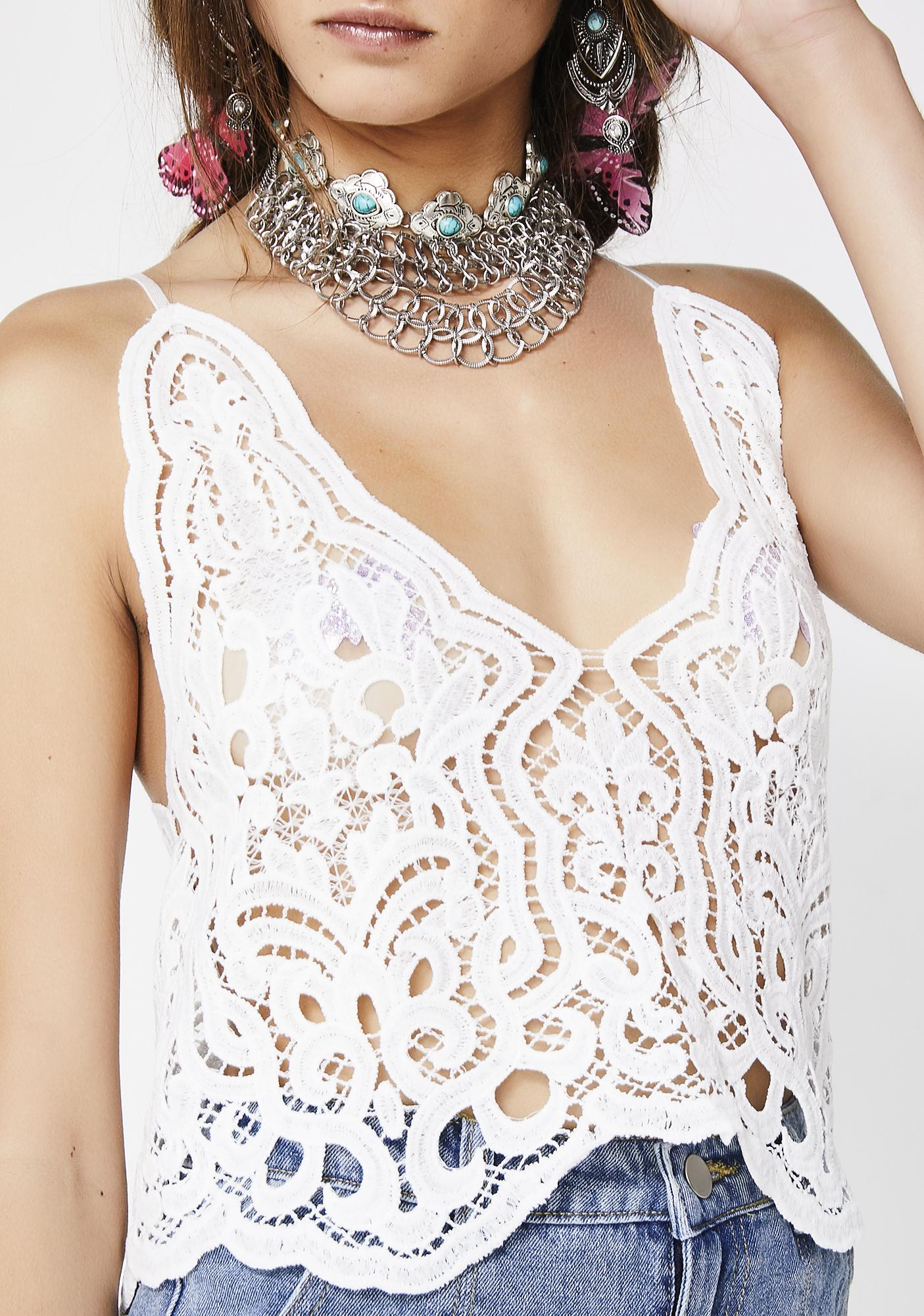 Meet Me In The Desert Lace Tank Top