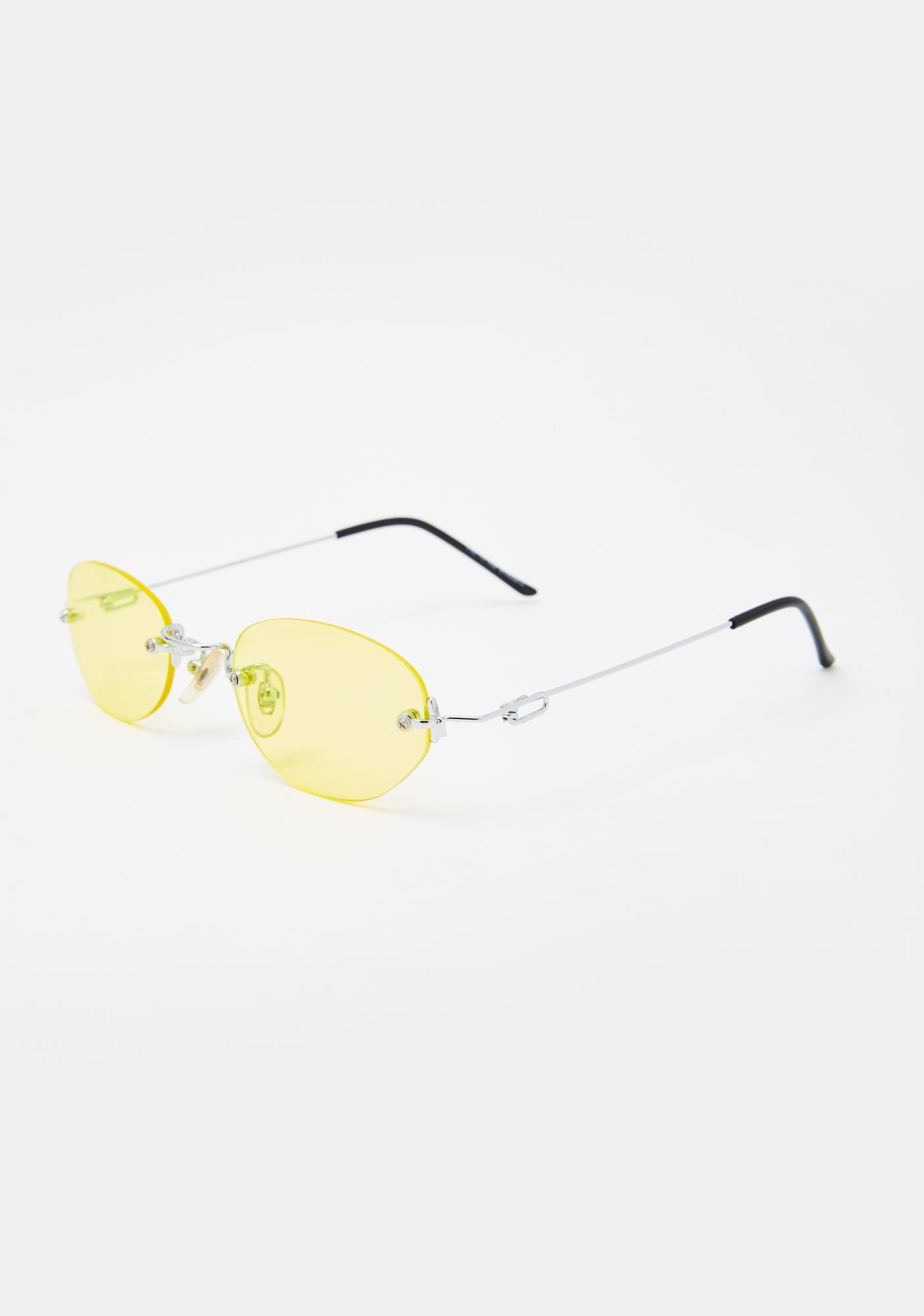 Good Times Eyewear Yellow Remi Sunglasses