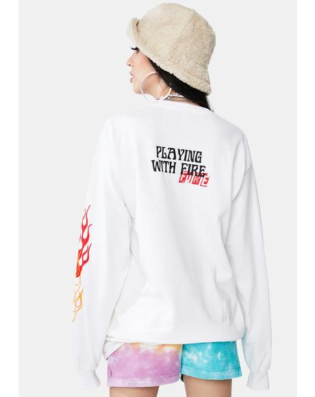 Playing With Fire Long Sleeve Graphic Tee