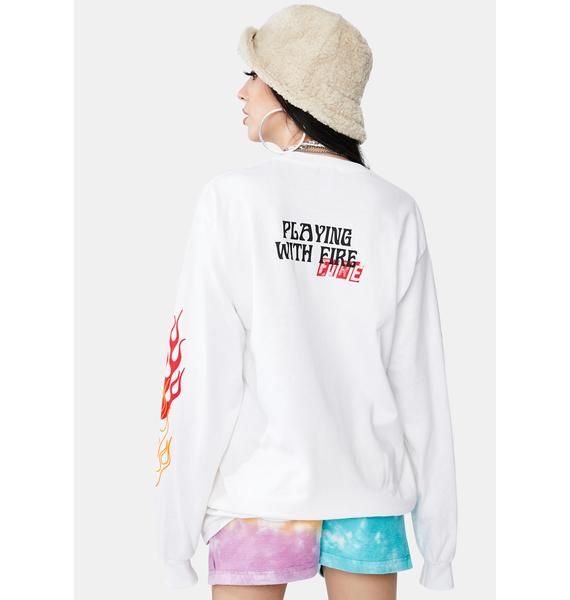 MOODSWINGS Playing With Fire Long Sleeve Graphic Tee