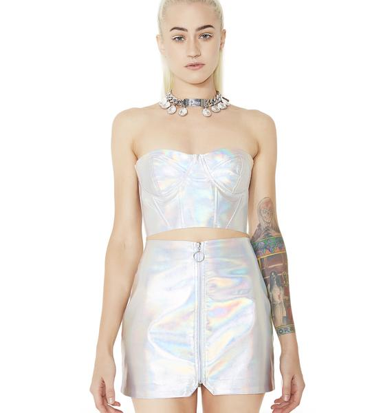 FemBot Holographic Mini Skirt