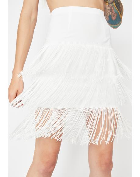 Icy Shake It Up Fringe Skirt