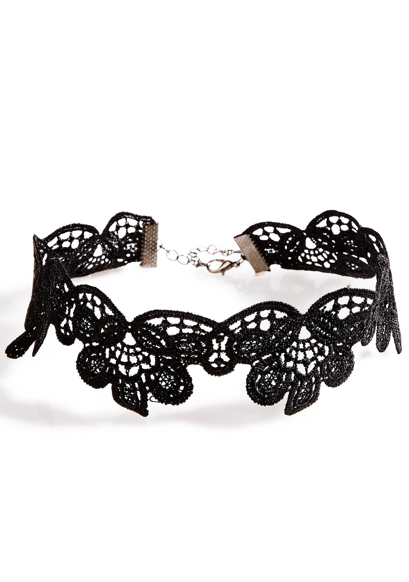 Wilted Flora Lace Choker