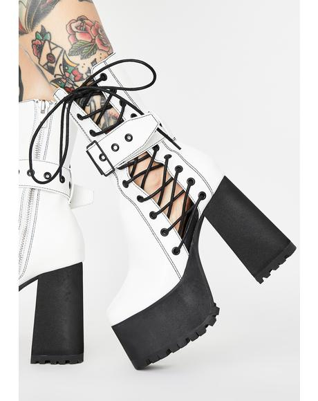 Pure Born Killer Platform Boots